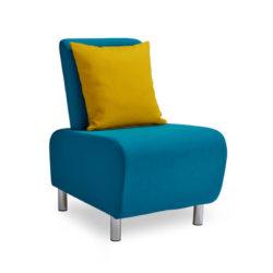 LUM01 Dark Blue With Mustard Cushion
