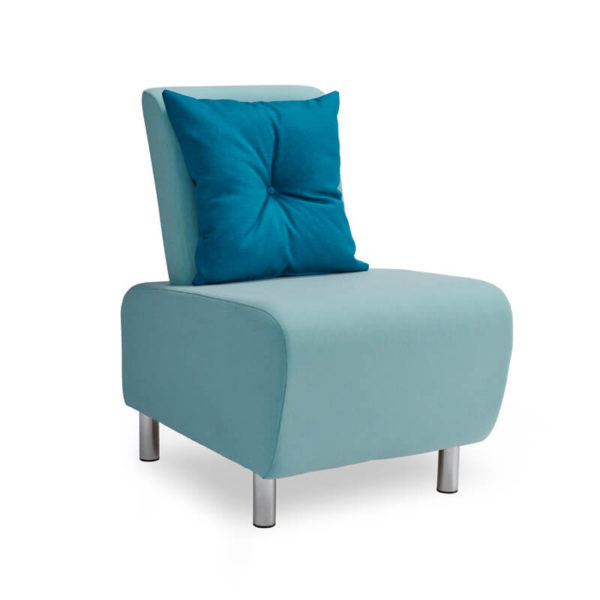 LUM01 With Blue Buttoned Cushion