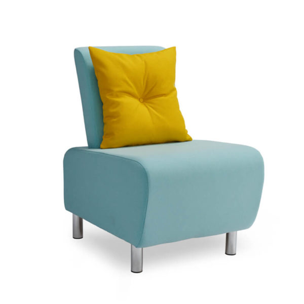 LUM01 With Mustard Buttoned Cushion